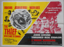 Thief Who Came to Dinner/Train Robbers, Combo UK Quad Poster, John Wayne, '73